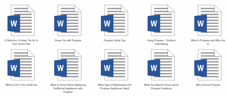 Propane PLR Articles Sample doc