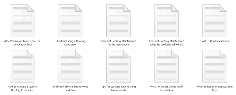 Roofing PLR Articles Sample text