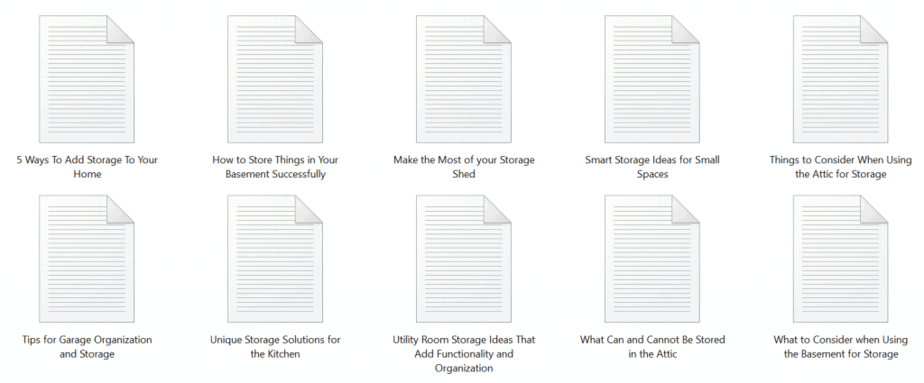 Storage Solutions PLR Articles Sample Sample text