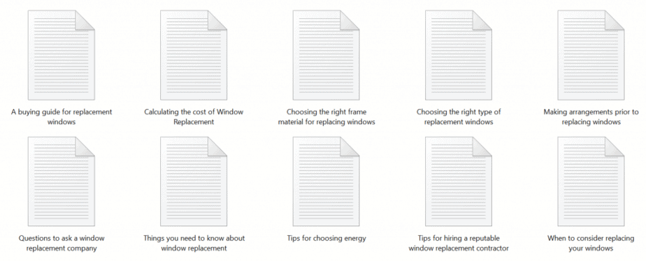 Window Replacement PLR Articles Sample text