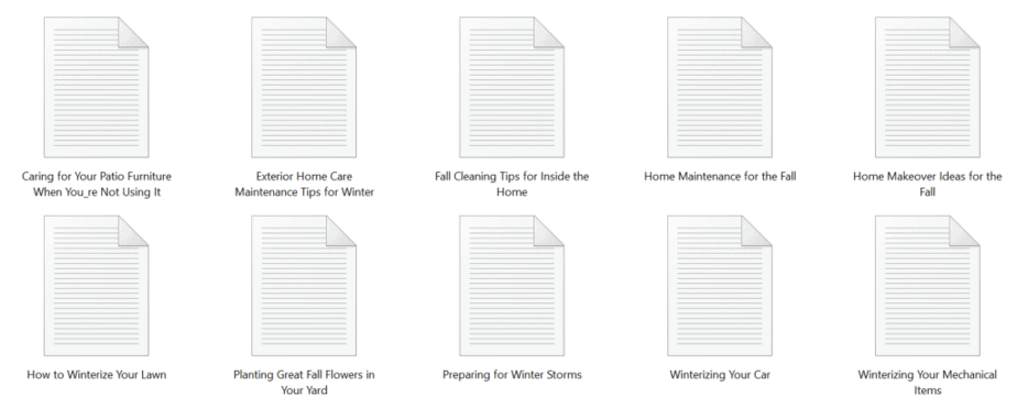 Winterization PLR Articles Sample text