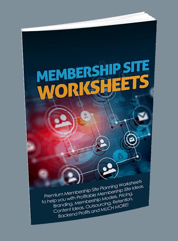 Membership Site Premium PLR Worksheets