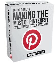 10 Quality Making the most of Pinterest PLR Articles and Social Posts