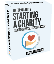 10 Quality Starting a Charity PLR Articles and Social Posts