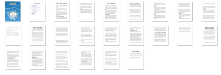 Lead Generation Mastery PLR eBook Resell PLR Screenshot