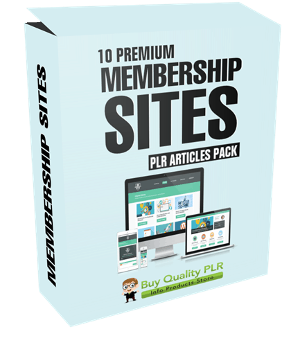 10 Premium Membership Sites PLR Articles Pack