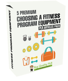5 Premium Choosing A Fitness Program Equipment PLR Articles Pack