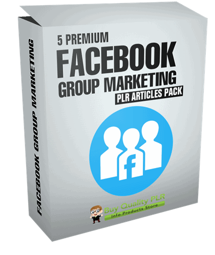 5 Premium Facebook Group Marketing PLR Articles Pack