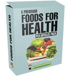 5 Premium Foods For Health PLR Articles Pack