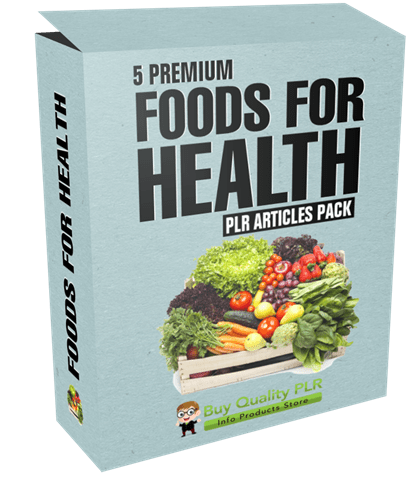 5 Premium Foods For Health PLR Articles Pack