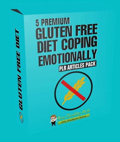 5 Premium Gluten Free Diet Coping Emotionally PLR Articles Pack