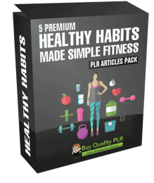 5 Premium Healthy Habits Made Simple Fitness PLR Articles Pack