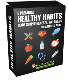 5 Premium Healthy Habits Made Simple General Wellness PLR Articles Pack