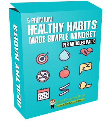 5 Premium Healthy Habits Made Simple Mindset PLR Articles Pack