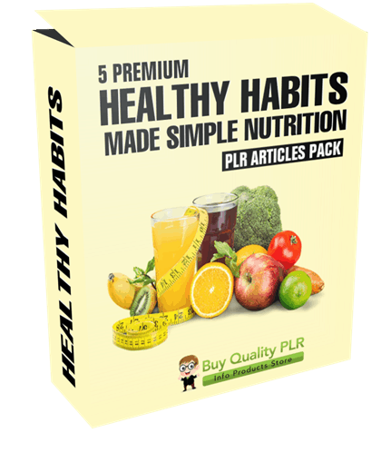 5 Premium Healthy Habits Made Simple Nutrition PLR Articles Pack