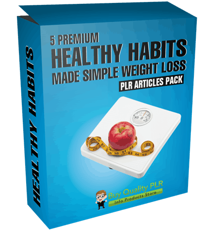 5 Premium Healthy Habits Made Simple Weight Loss PLR Articles Pack