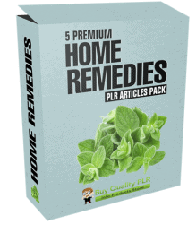 5 Premium Home Remedies PLR Articles Pack