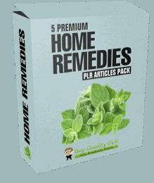 5 Premium Home Remedies PLR Articles Pack