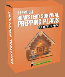 5 Premium Homestead Survival Prepping Plans PLR Articles Pack