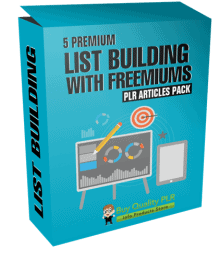 5 Premium List Building With Freemiums PLR Articles Pack