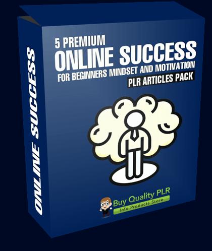 5 Premium Online Success For Beginners Mindset and Motivation PLR Articles Pack