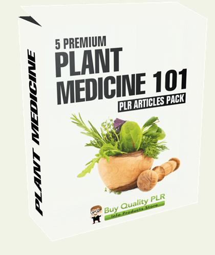 5 Premium Plant Medicine 101 PLR Articles Pack