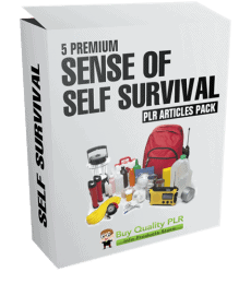 5 Premium Sense of Self Survival PLR Articles Pack