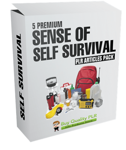 5 Premium Sense of Self Survival PLR Articles Pack