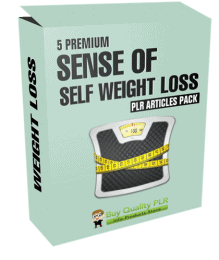5 Premium Sense of Self Weight Loss PLR Articles Pack