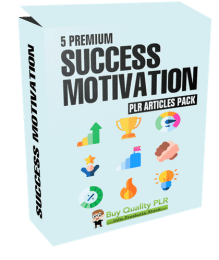 5 Premium Success Motivation PLR Articles Pack