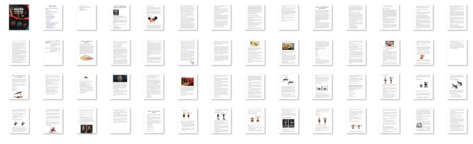 Mass Gaining Kickstart PLR eBook Resell PLR Screenshot