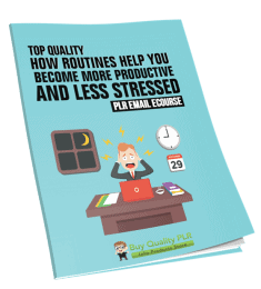 5 Top Quality How Routines Help You Become More Productive and Less Stressed PLR Emails