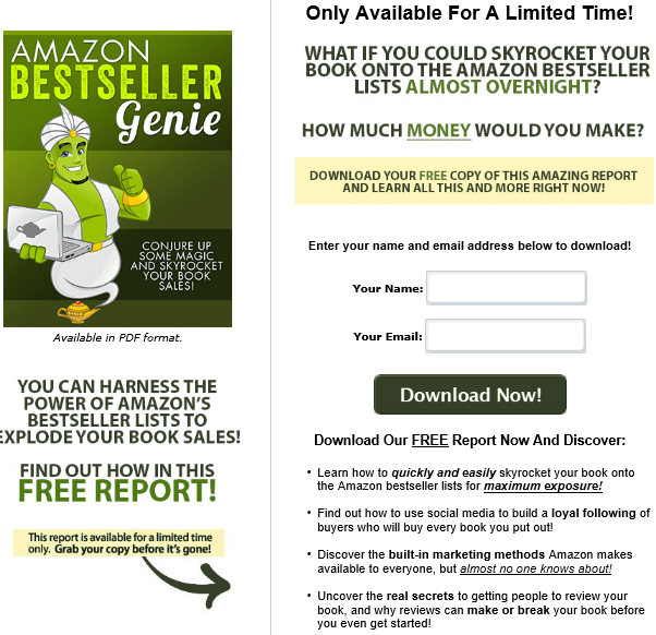 Amazon Bestseller PLR Lead Magnet Kit Squeeze Page