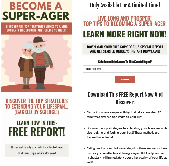 Become A Super Ager PLR Squeeze Page