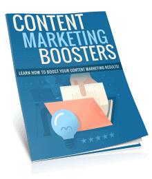 Content Marketing Boosters PLR Report eCover