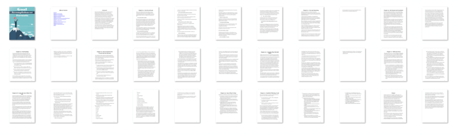 Goal Accomplishment Formula PLR eBook Resell PLR Screenshot
