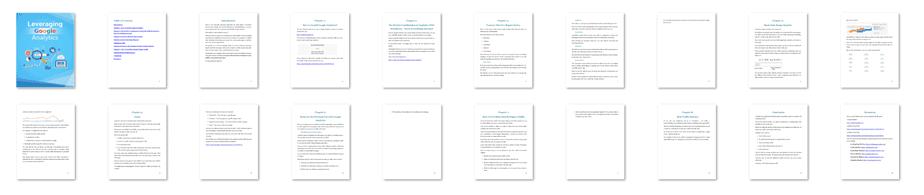 Leveraging Google Analytics PLR eBook Resell PLR Screenshot