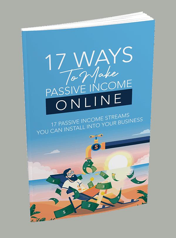17 Ways To Make Passive Income Online PLR Report