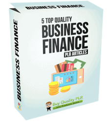 5 High Quality Business Finance PLR Articles