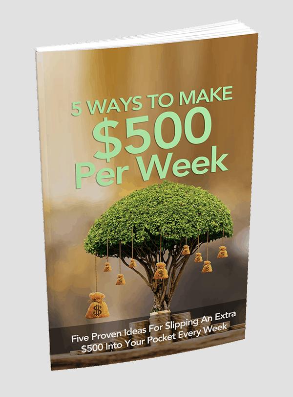 5 Ways To Make 500 Per Week PLR Report
