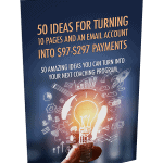 50 Ideas For Turning 10 Pages And An Email Account Into Profits PLR Report
