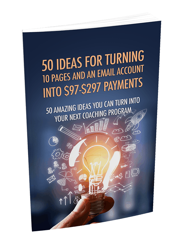 50 Ideas For Turning 10 Pages And An Email Account Into Profits Premium PLR Report