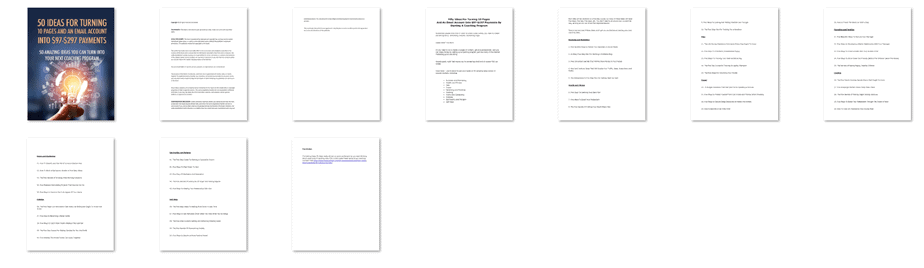 50 Ideas For Turning 10 Pages And An Email Account Into Profits Screenshot