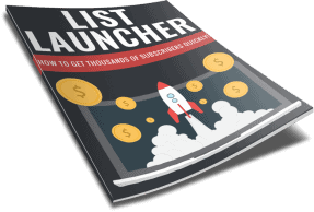 Email List Launcher PLR Report eCover