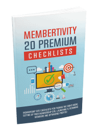 Membertivity 20 Premium PLR Checklists 20k Words 1