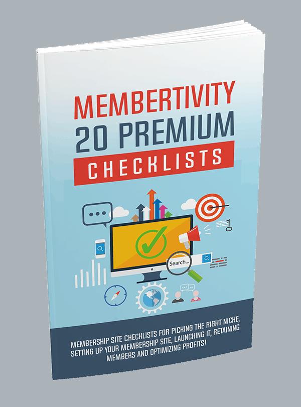 Membertivity 20 Premium PLR Checklists 20k Words 1