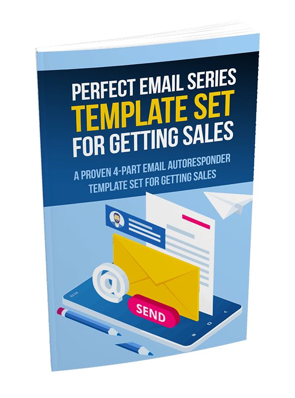 Perfect 4 Part Email Series Template Set For Getting Sales PLR Report