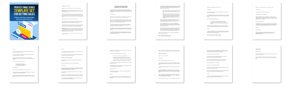 Perfect 4 Part Email Series Template Set For Getting Sales Screenshot