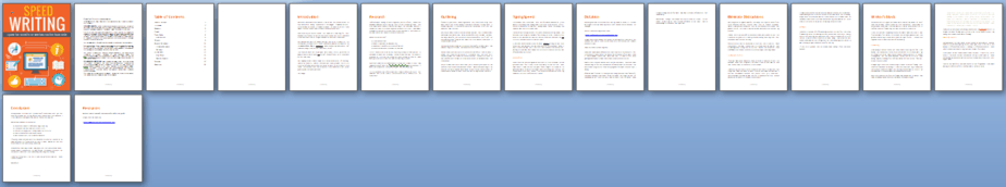 Speed Writing PLR Report Sneak Preview