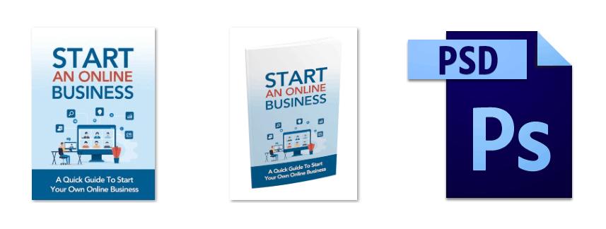 Start An Online Business Course Graphics